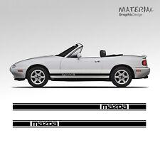 Fits Mazda MX5 Mk1 89-97 accoudoir couverture en cuir marron Stitch