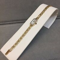 Michael Anthony Quartz Swiss Mvt 14K Yellow Gold Ladies Watch w/ Diamonds