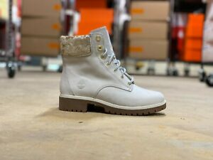 Timberland Mid Calf Womens Winter Boots Cream and Gold Sparkle A29GD NEW Sz 5.5