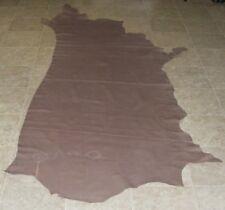(WVE9007) Side of Grey Brown Printed Cow Leather Hide Skin