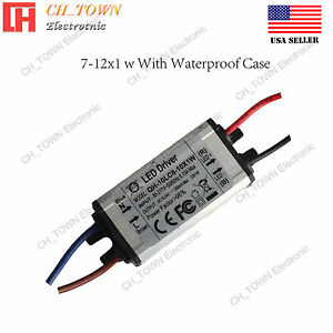 Constant Current LED Driver 7-12X1W DC 20-42V 0.3A Lamp Waterproof Power Supply