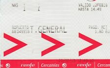 (10007) Spain RENFE Train Ticket Malaga - Torremolinos 2018 used / collectable