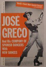 Jose Greco rare classical concert handbill Berkeley spanish dancers ballet