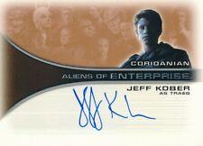 2002 RITTENHOUSE STAR TREK ENTERPRISES AUTOGRAPH CARD JEFF KOBER #AA7