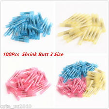 100 Heat Shrink Butt Wire Electrical Crimp Connector 10-12 14-16 18-22 Gauge New