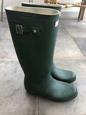 Hunter Green Unisex Rubber Welly Boots Original Tall Size UK10 US11M/12F EU44