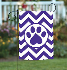 Toland Chevron Paw 12.5 x 18 Puppy Dog Kitty Cat Pet Garden Flag