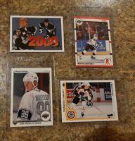 (4) Wayne Gretzky 1990-91 Upper Deck 2000th Campbell Score card lot Kings HOF
