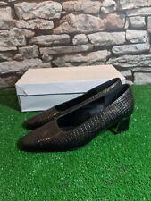 Women's Jacques Michel Bronze Court Shoe's Size UK 5 Wide New Free P&P