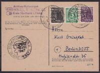 Alliierte Besetzung Mi Nr. 915, 943, 944 mit SST Hannover Messe - Berlin 1947