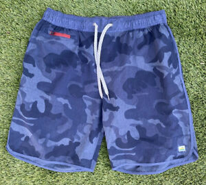 Vuori Banks Shorts Navy Blue Camo Large V330 Retail $68 FREE SHIPPING