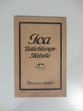 Ica Belichtungs-tabelle, tavola di esposizione in tedesco della Ica
