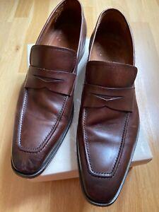 NAVYBOOT Herren Leder Schuhe Slipper Loafer Gr. 45  - braun -