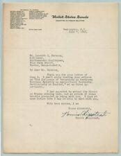 1943 US SENATOR HENRIK SHIPSTEAD Original SIGNED AUTOGRAPH Letter / MINNESOTA