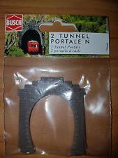 2 Portali per Tunnel a Binario Singolo - Scala N - Busch N 8191  - Nuovo