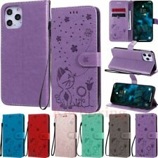 For iPhone 12 Pro Max Mini XS XR SE 11 8 7 6s Embossed Wallet Leather Case Cover