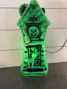 """Vintage Green Haunted Mansion Halloween Light Up Blow Mold 17"""""""