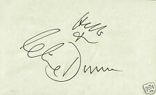 Clive Dunn Actor Corporal Jones Dads Army - Hand Signed Paper laid to card 5x3