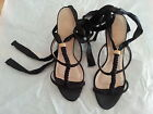 As New Wittner Sexy Prom Formal Leather / Satin Heels Shoes Size 38