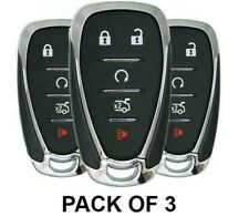Pack of 3 / 2016-2019 Chevrolet / 5-Button Smart Key / HYQ4EA