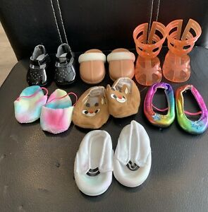 """Our Generation/American Girl Dolls Shoes Lot for 18"""" Doll"""