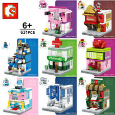 Sembo City Street Flower Pharmacy Barber Baby Shop Mini Blocks Building Toy 8pcs