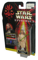 Star Wars Episode I The Phantom Menace Qui-Gon Jinn Naboo Figure w/ CommTech Chi