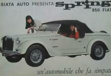 Siata Auto spring 850 Fiat depliant brochure originale
