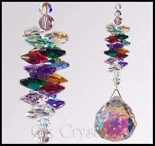 Suncatcher 40mm Crystal AB Ball - mw Multi Swarovski Crystal Colour's - Gift Gox