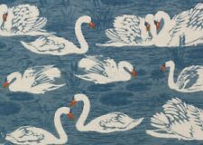 1 Yard Swan Duck Print 100% Cotton Snuggle Flannel Fabric BTY