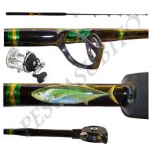 Kit Canna Carrucola 60Lbs + Mulinello Mft 350 da Pesca Tonno Drifting Traina