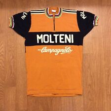 Woolistic Molteni Arcore Merino Wool Chain Stitch Sweater Cycling Flawed Small
