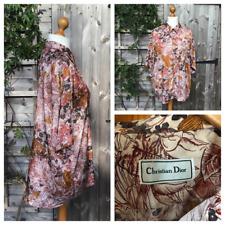Christian Dior Vintage 80s / 90's Silk Blend Brown Shirt Blouse Top Size XL B2