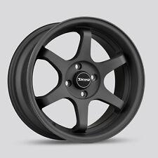 Drag Wheels Dr-53 16x8.25 4/100 et25 73mm Flat Black Rims Civic Cube XB Fit