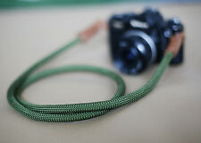 B model Green Climbing rope 10.5mm handmade Camera neck strap Generic SLR/DSL