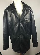 Leather Jacket Perry Ellis Portfolio Men's Winter Size L Super Soft