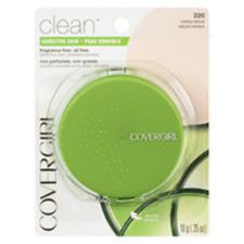 Covergirl sensitive skin fragrance & oil free chose shade slightly damage case