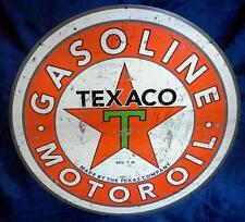 TEXACO ROUND Hanging Tin Sign  HS006