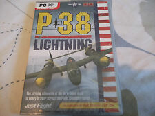 P-38 P38 LIGHTNING PC DVD-ROM NEW SEALED ( expansion for flight sim X & 2004 )