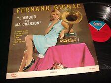 FERNAND GIGNAC  L'AMOUR ,MA CHANSON  Lp VINYL~Canada Pressing~TC TSF-1380