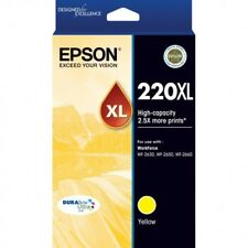 Epson Genuine 220XL Yellow H/Yield Ink For WF2630 WF2650 XP220 XP320 - 450 Pages