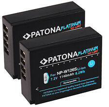 2x Akku NP-W126S Platinum Patona Serie 1140mAh 7,2V Fuji Fujifilm np-w126
