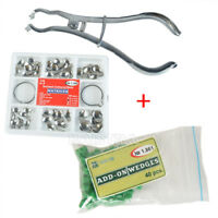 Dental Sectional Contoured Matrices Matrix Ring Delta & 40 Add-On Wedges & Plier