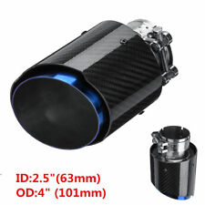 1Pcs Glossy Carbon Fiber Car SUV Exhaust Pipe Tail Muffler End Tip 63mm-101mm