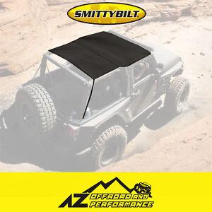 Smittybilt Extended Bikini Top - Black Diamond For 10-18 Jeep Wrangler JK 2 Door