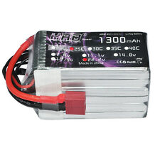 HRB Lipo 1300mAh 22.2v 6S 25C 50C Battery For RC Quad TREX 450 HK450 AKKU T Plug