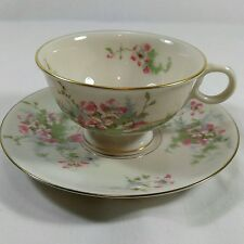 Theodore Haviland Apple Blossom Tea Cup And Saucer with Gold Rim And Trim