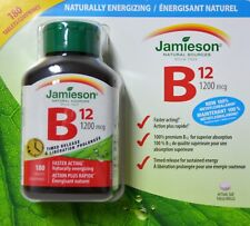 Jamieson Vitamin B12 1200 mcg 180 Tablets Timed Release Natural Sources