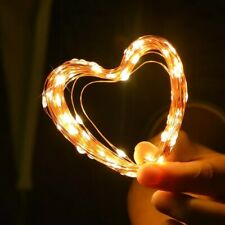 Fairy 5m battery operated LED copper wire string Lights for wedding Crismas Birt
