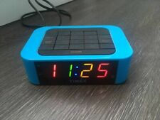 Timex Blue Alarm Clock with Colored Numbers